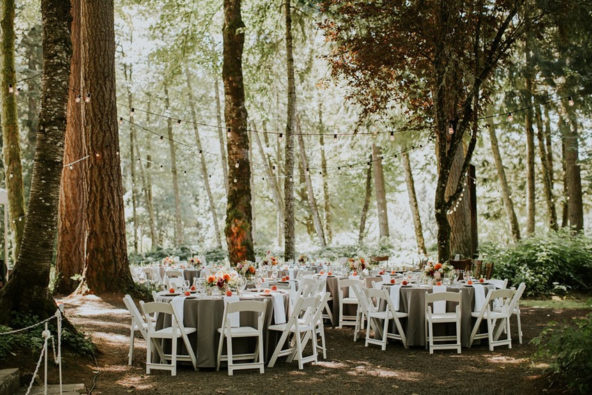 Portland Woodland Wedding Reception