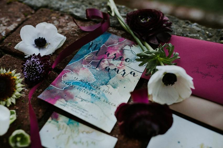 Dark & Decadent Wedding Invitation Suite