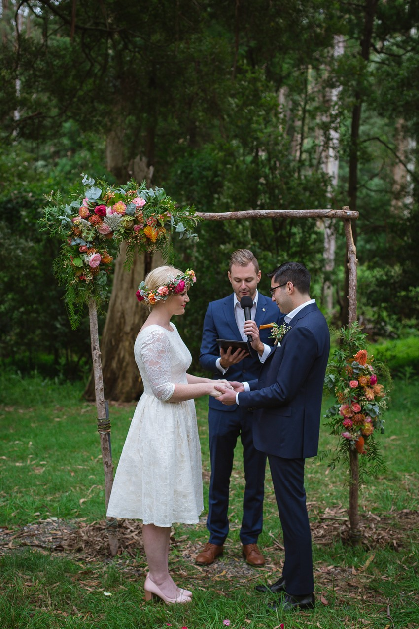 Australian Woodland Wedding Ceremony