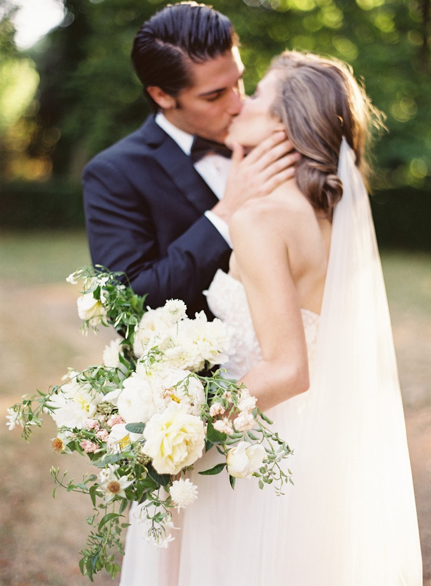 Romantic Modern Vintage Bride & Groom - Chateau Wedding