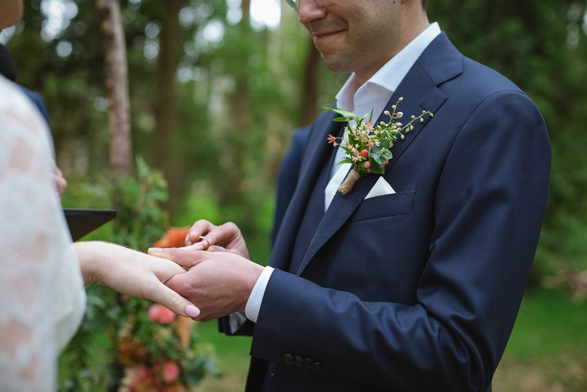 Relaxed Woodland Wedding Ceremony