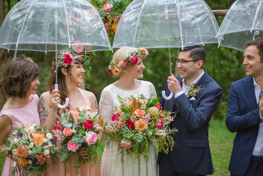 Bright & Beautiful Australian Woodland Wedding