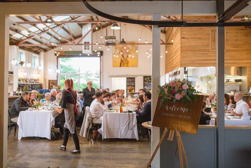 Relaxed Restaurant Wedding Reception
