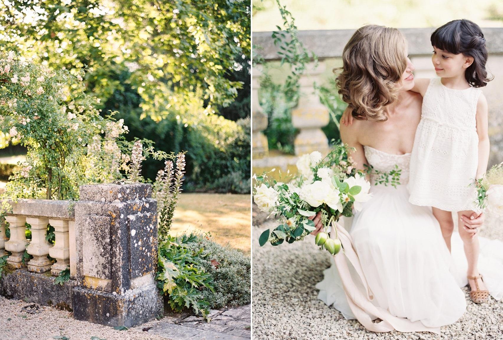Elegant Bride & Sweet Flower Girl