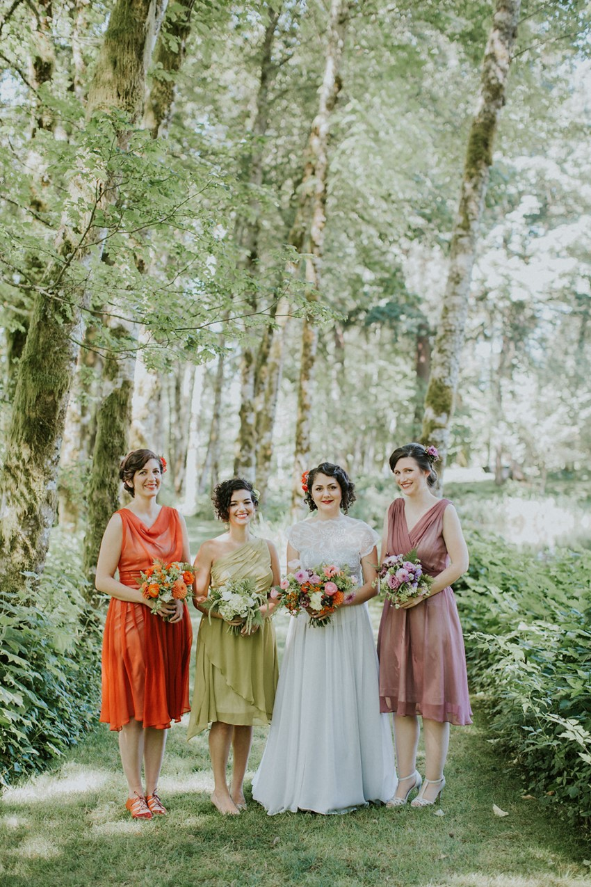 Mismatched Vintage Inspired Bridesmaids