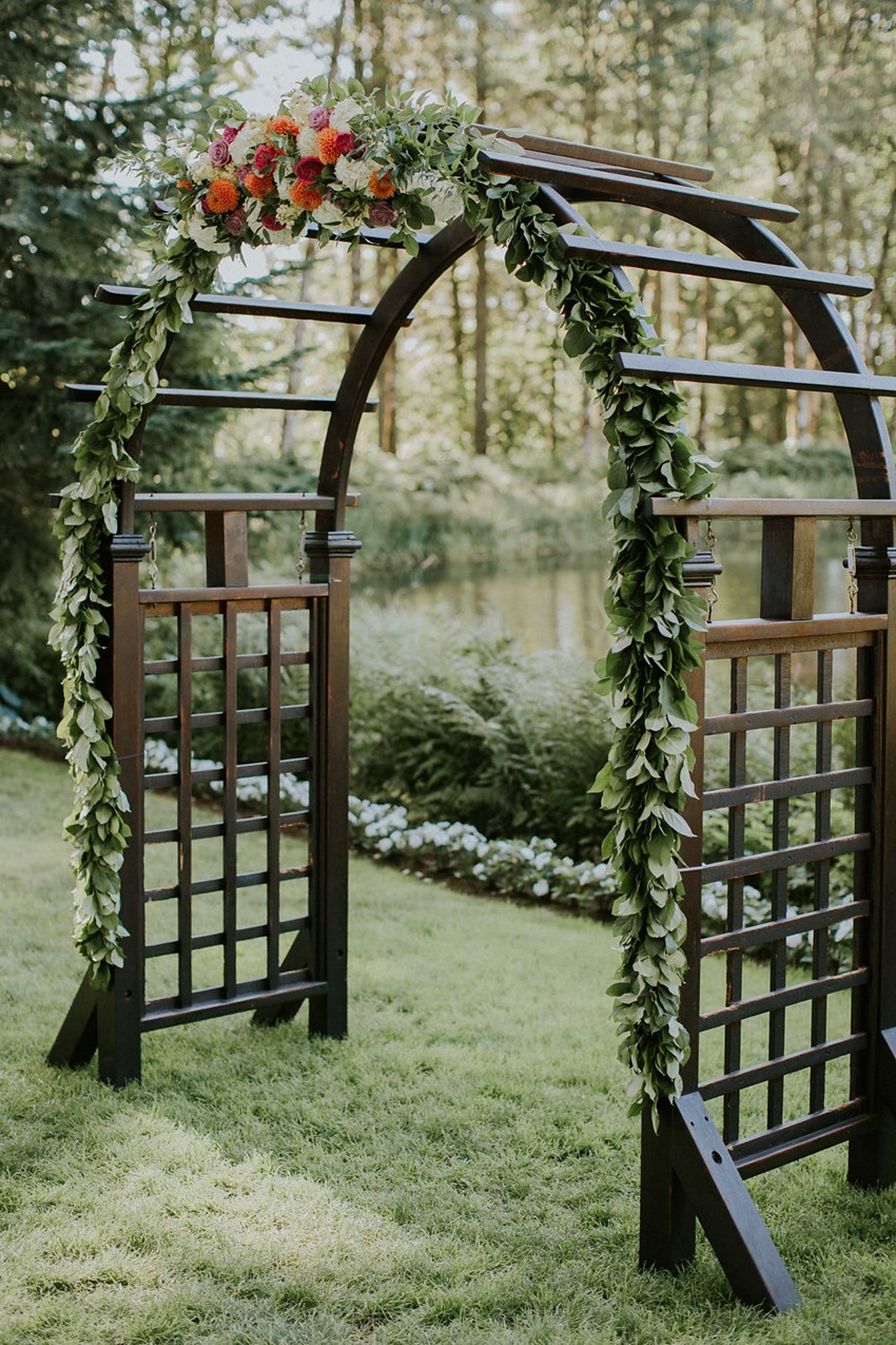 Woodland Wedding Aisle Arch