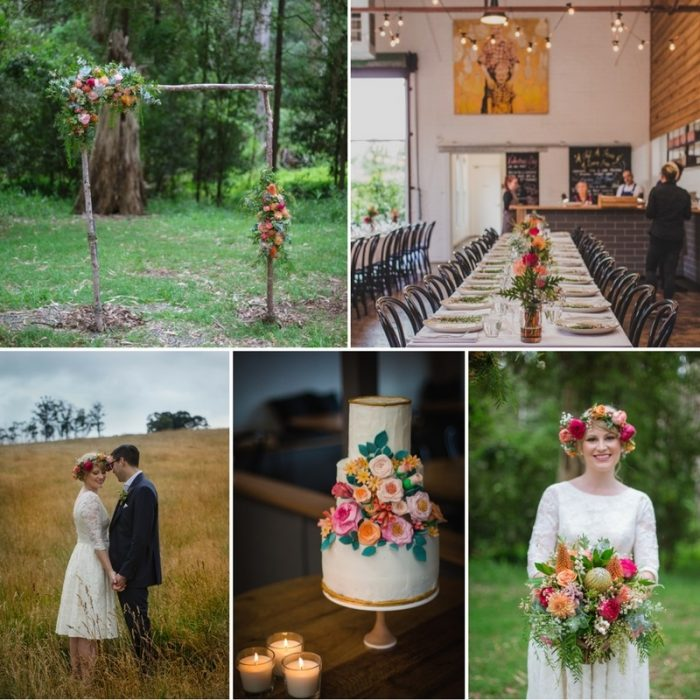 A Retro & Colourful Woodland Wedding