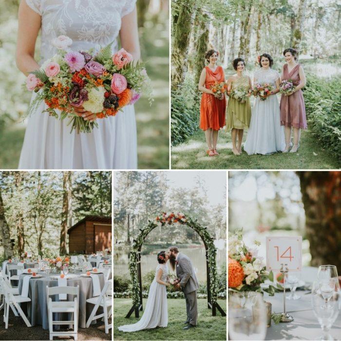 1920s Inspired Woodland Wedding