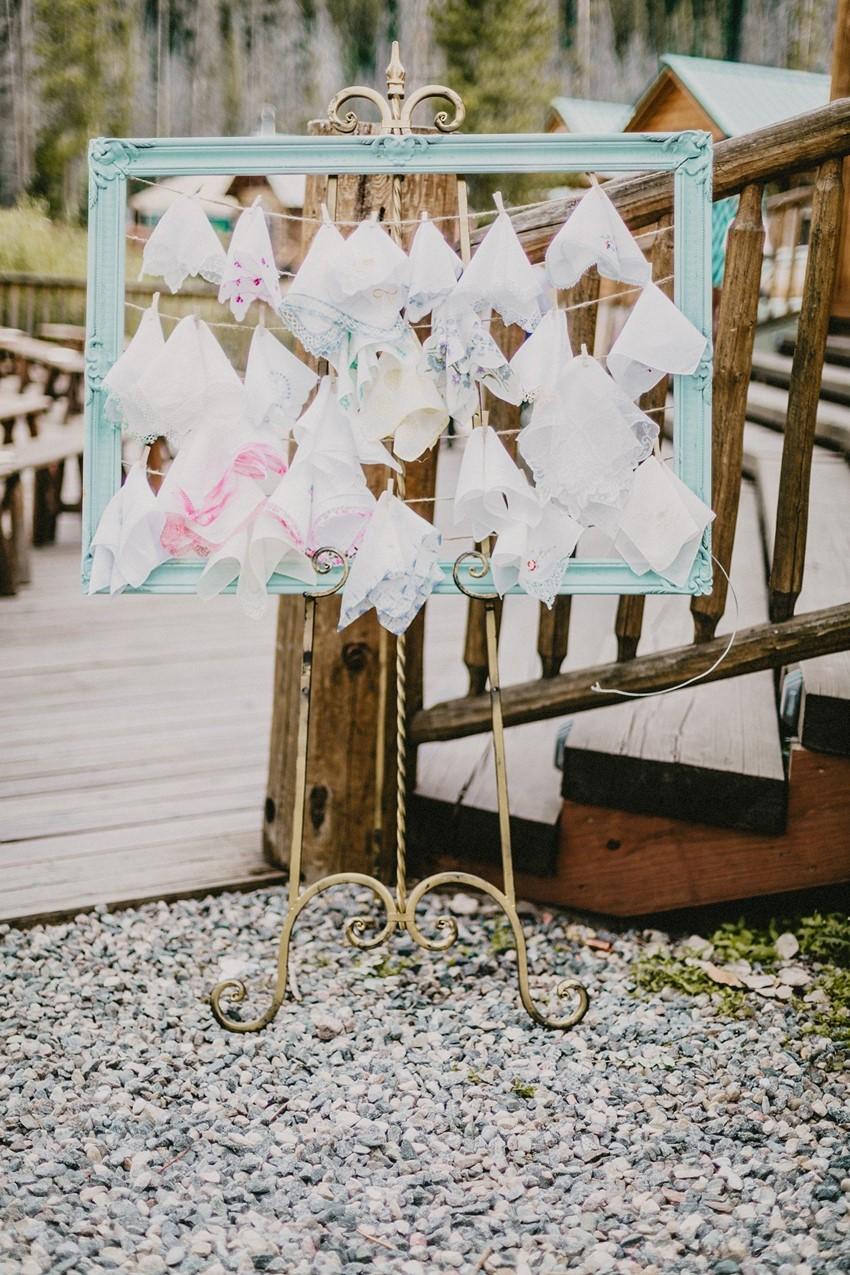 Vintage Handkerchief Wedding Favors