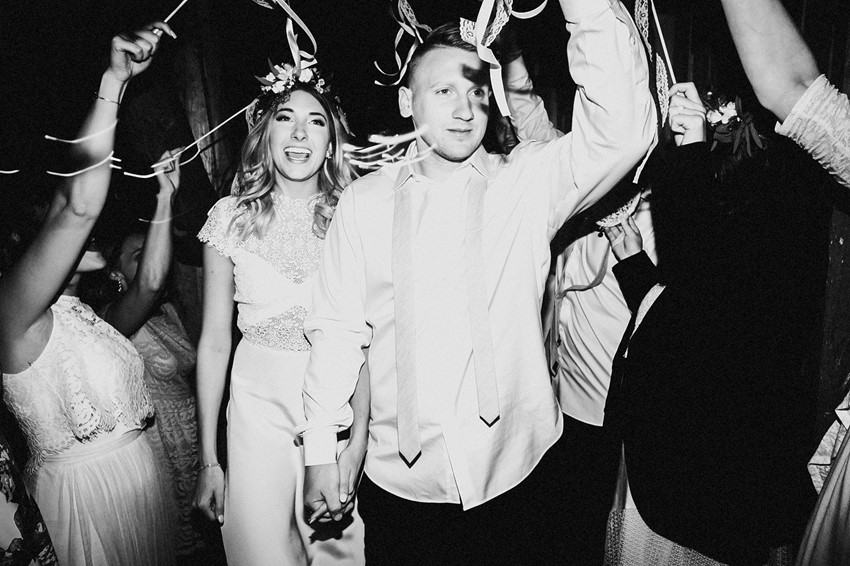 Boho Vintage Wedding Exit