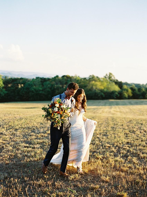 Romantic Fall Vineyard Wedding