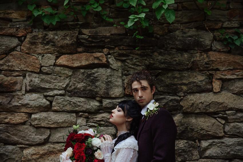Gothic Edwardian Bride & Groom