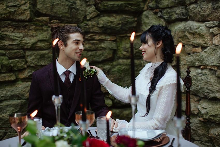 Gothic Edwardian Wedding Table