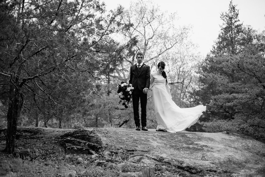 Black & White Wedding Portraits