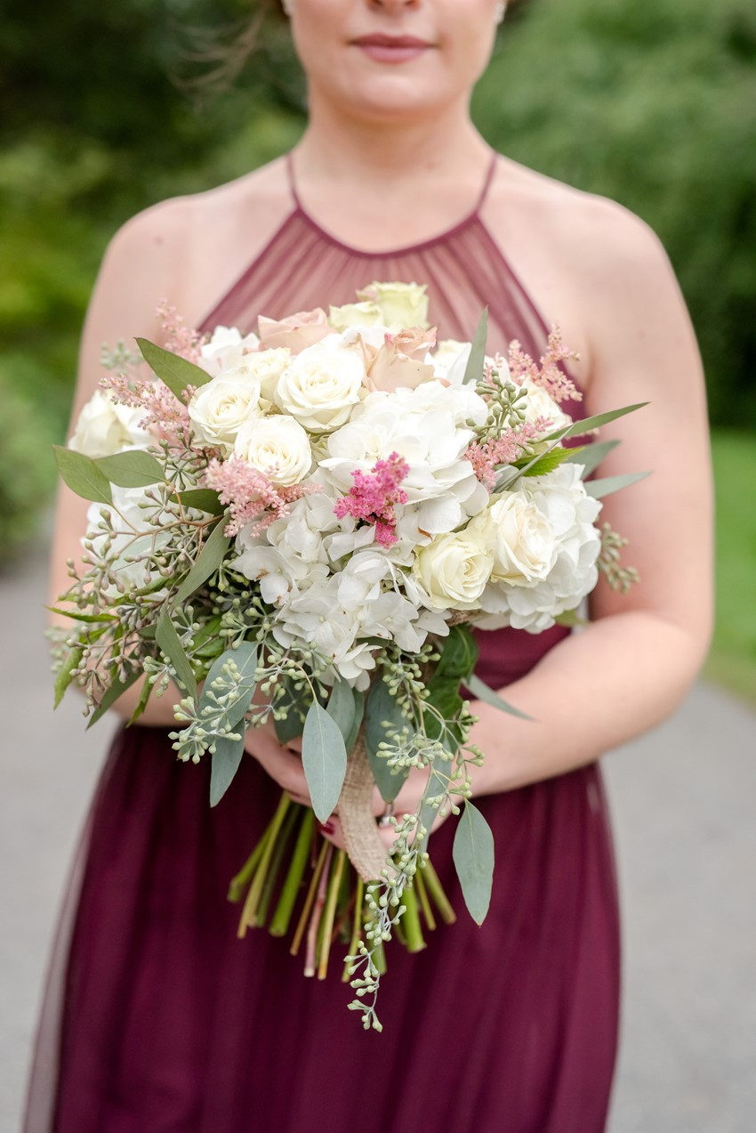 Garnet & Pink Bridesmaid Bouquet