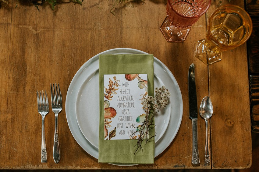 Masculine Vintage Wedding Place Setting