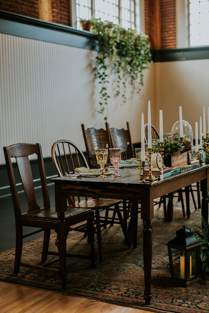 Masculine Vintage Wedding Reception