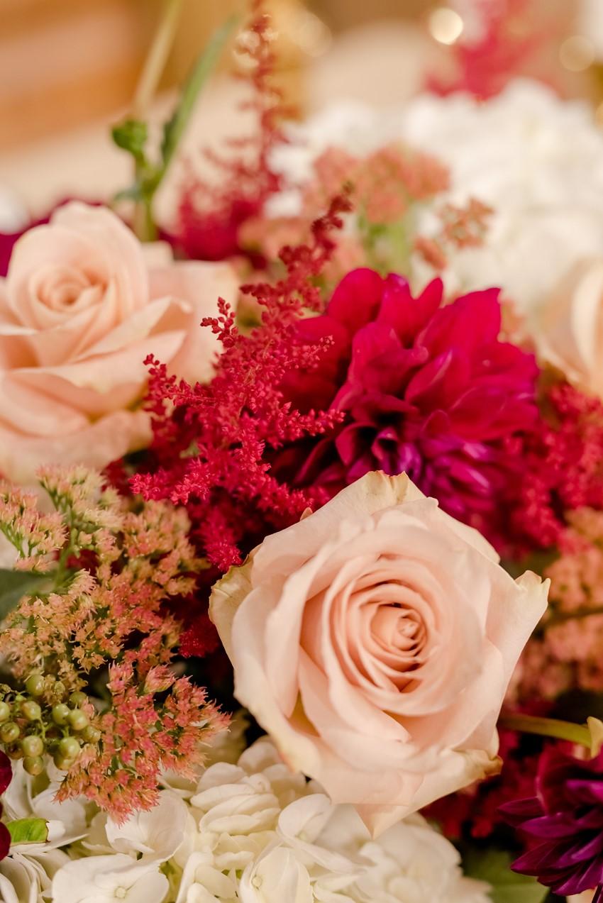 Garnet & Blush Wedding Flowers