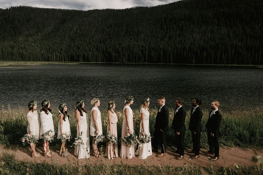 Boho Vintage Wedding Party