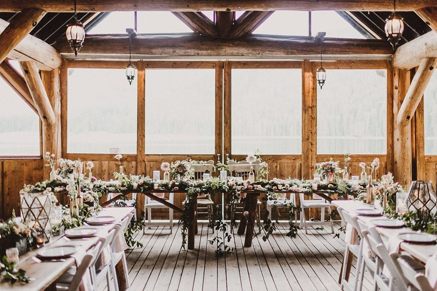 Boho Vintage Wedding Reception