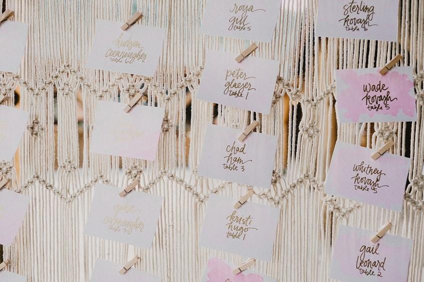 Boho Macrame Wedding Seating Chart