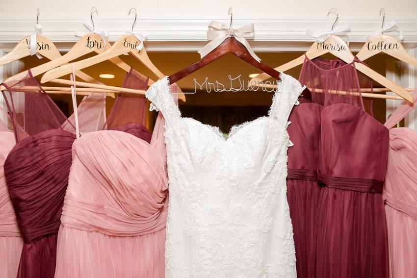 Personalised Wedding Dress Hangers