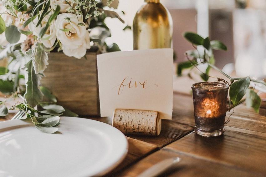Boho Vintage Wedding Reception Table Number
