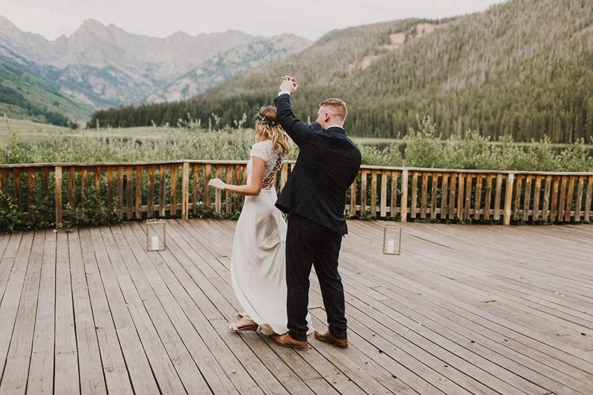 Mountain Wedding First Dance
