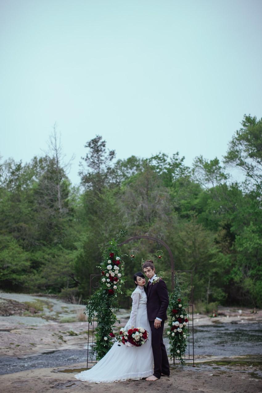 Gothic Riverside Wedding Ceremony