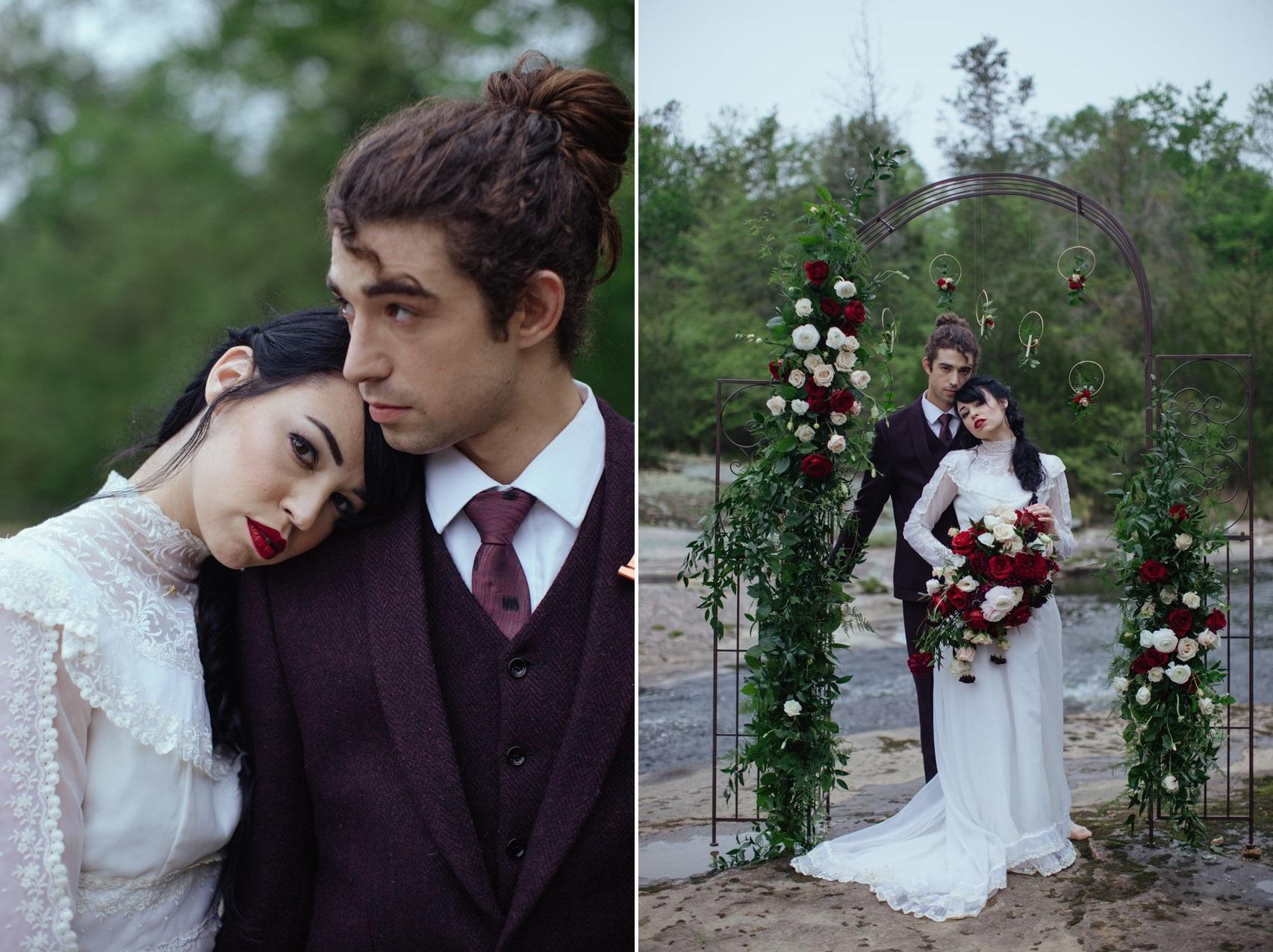 Gothic Romantic Bride & Groom