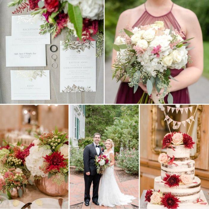Romantic Garnet & Pink Fall Wedding Inspired by Downton Abbey