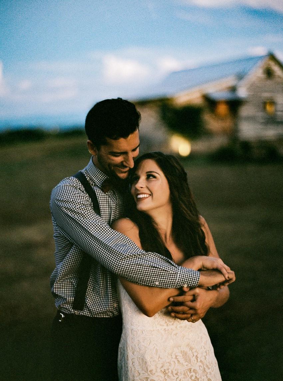 Dusk Wedding Portraits