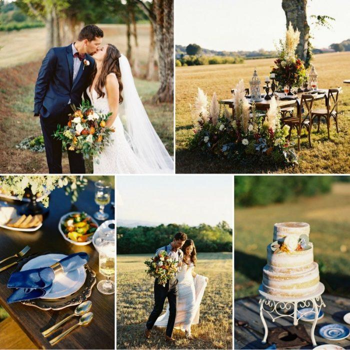 Vineyard Wedding Inspiration in Dazzling Fall Hues