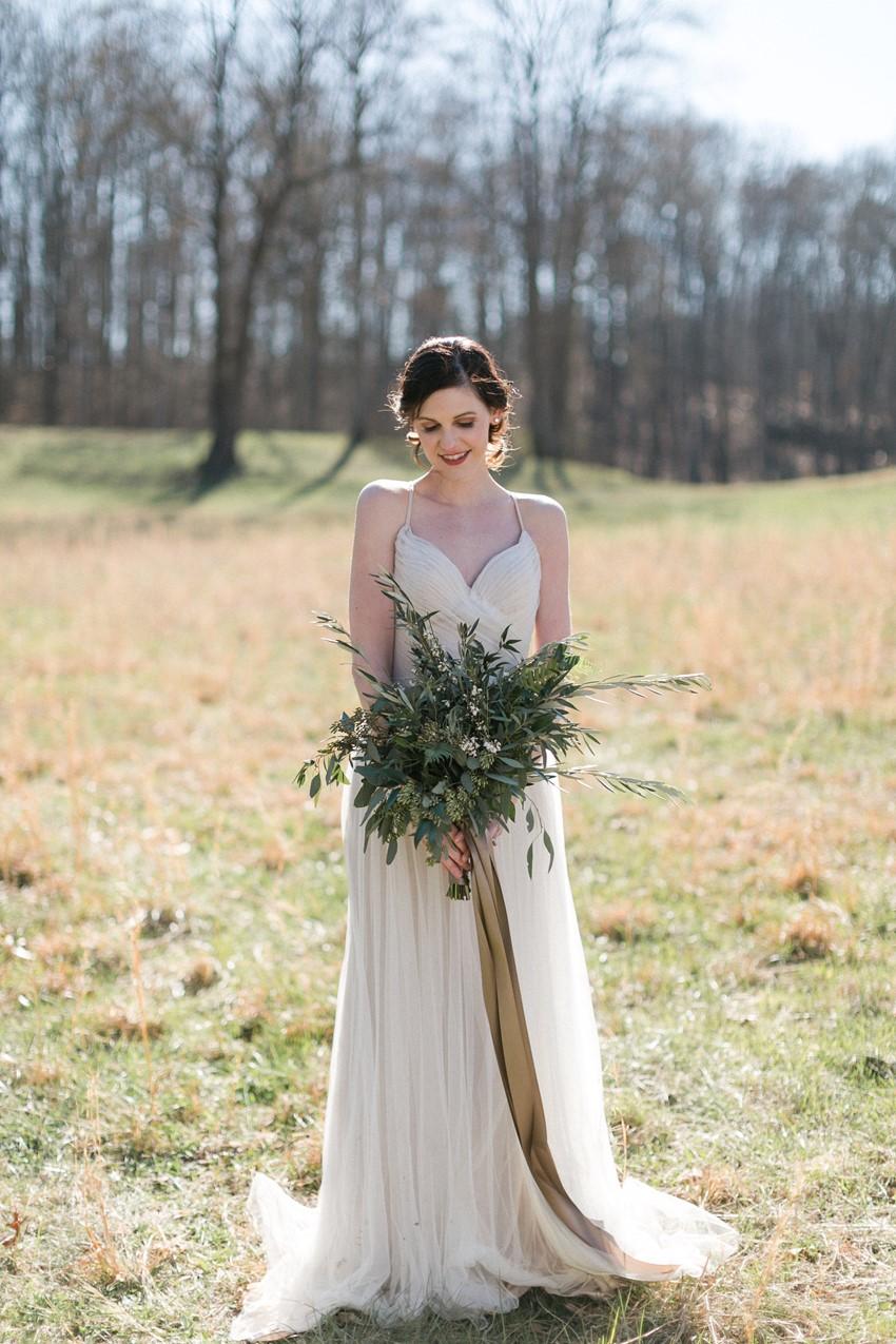 Rustic Vintage Elopement Bride