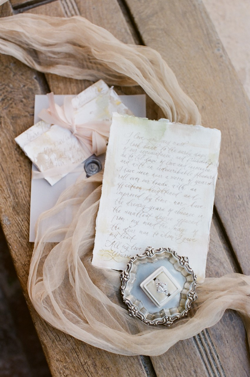 Vintage Engagement Ring & Wedding Stationery