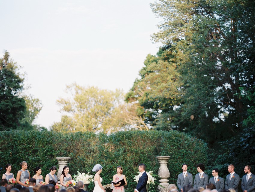 Romantic Summer Garden Wedding Ceremony