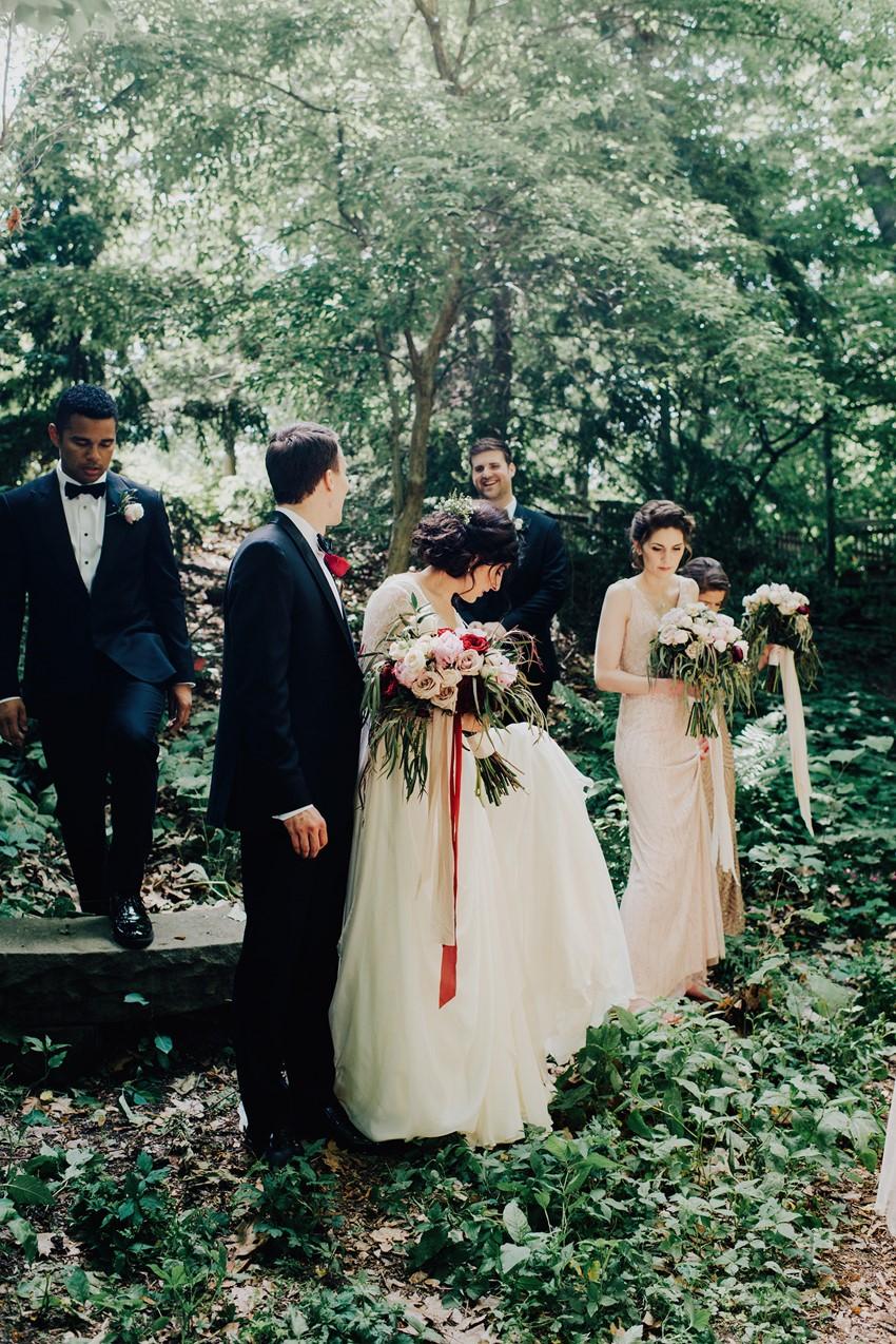 Elegant Rich Red Vintage Wedding