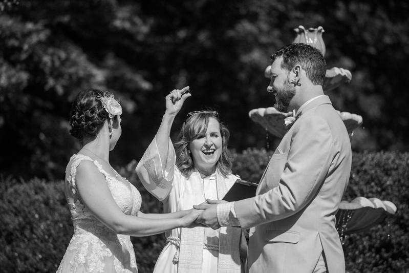 Wedding Ceremony Black & White Photo