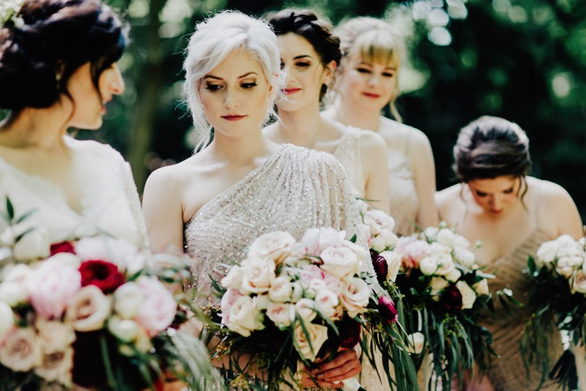 Elegant Vintage Inspired Bridesmaids