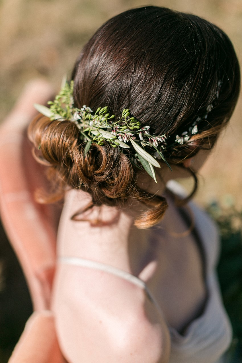 Rustic Vintage Bridal Updo