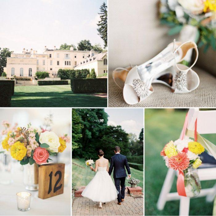 1950s Inspired Museum Garden Wedding