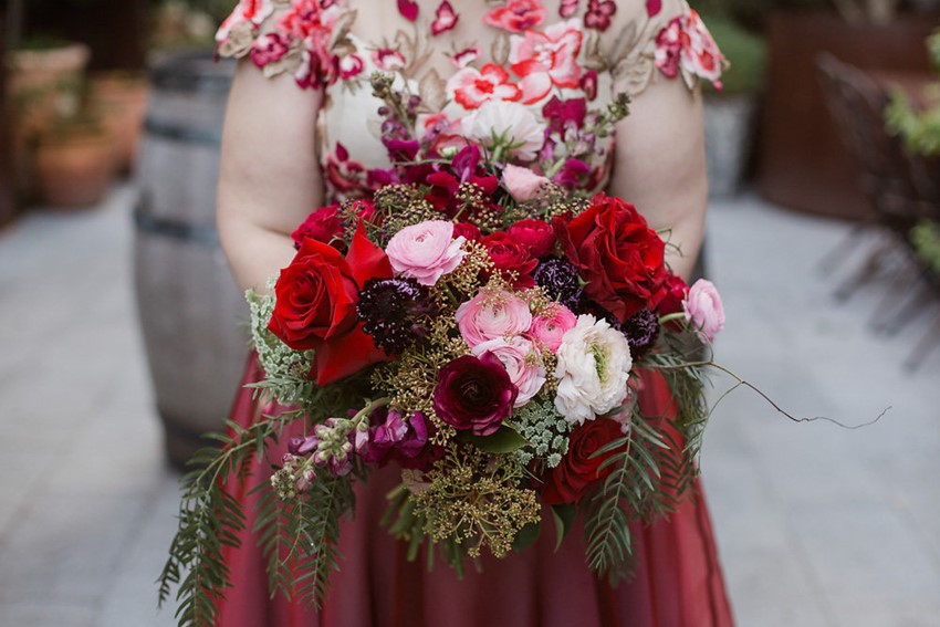 Stunning Red Bridal Bouquet