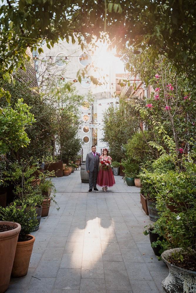Colorful City Garden Wedding