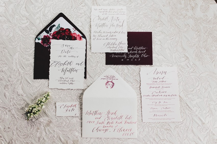 Rich Red Wedding Stationery
