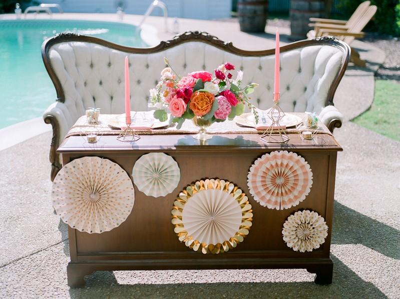 Vintage Summer Wedding Reception Decor