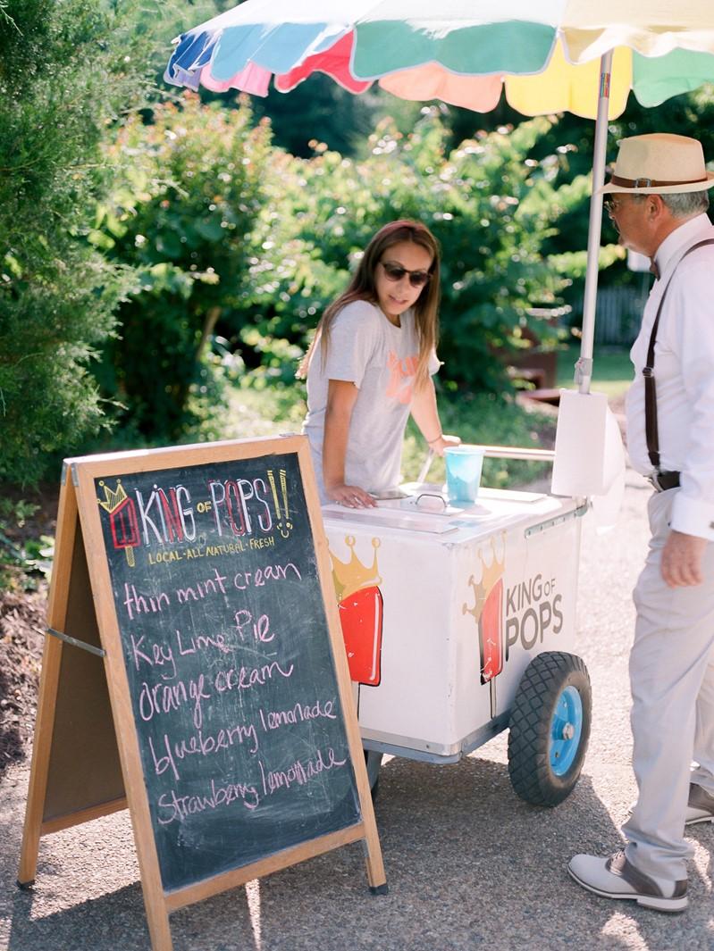 Summer Wedding Ice Cream Cart