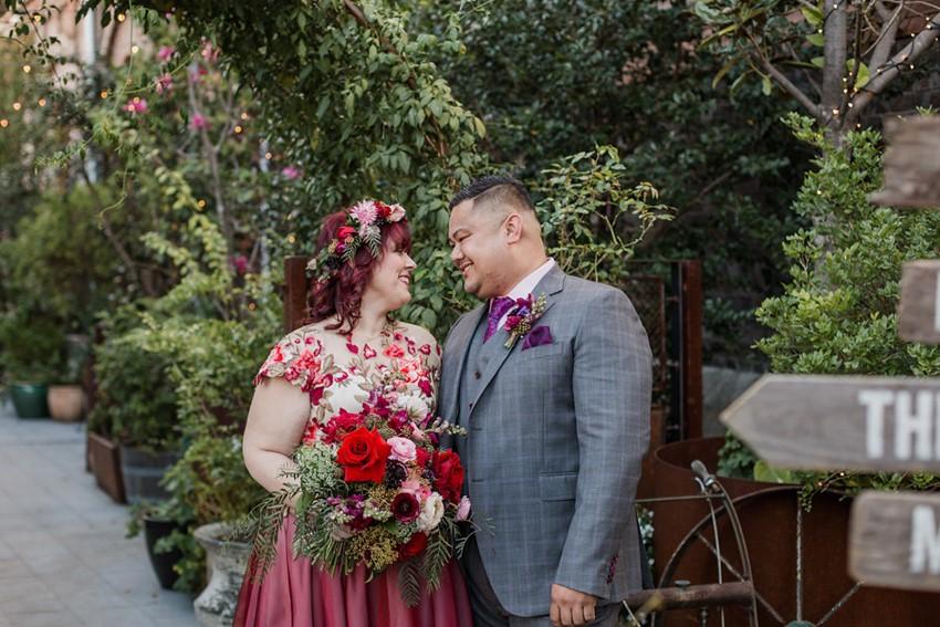 Colorful Stylish Bride & Groom