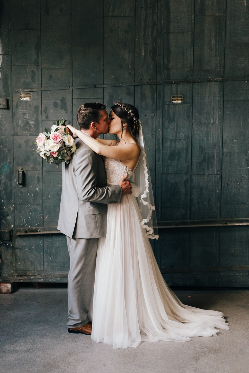 Romantic Industrial Wedding Photos