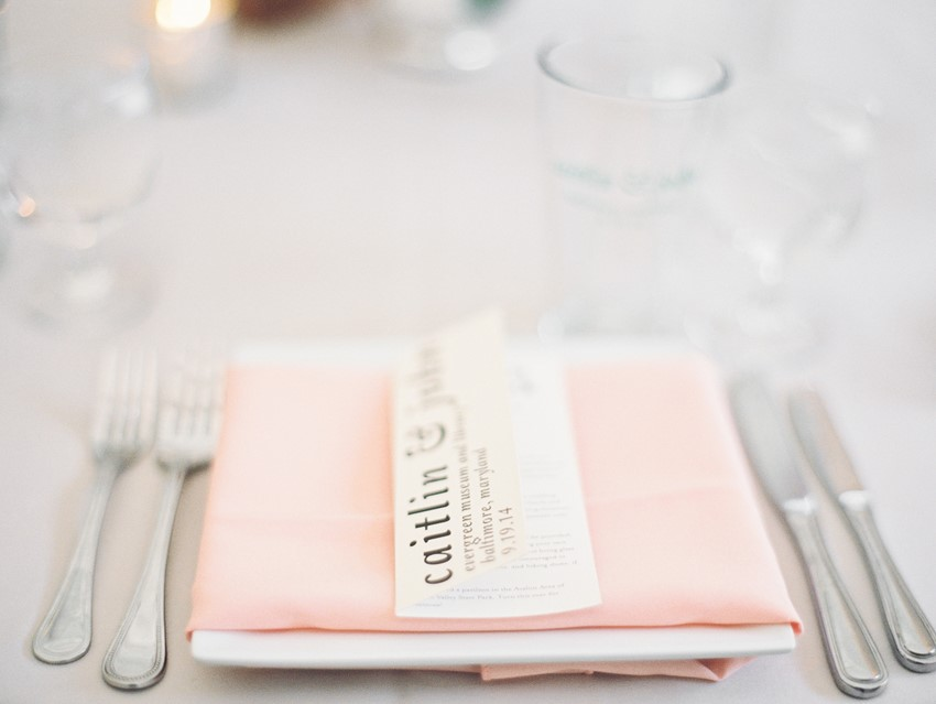 Blush Wedding Place Setting
