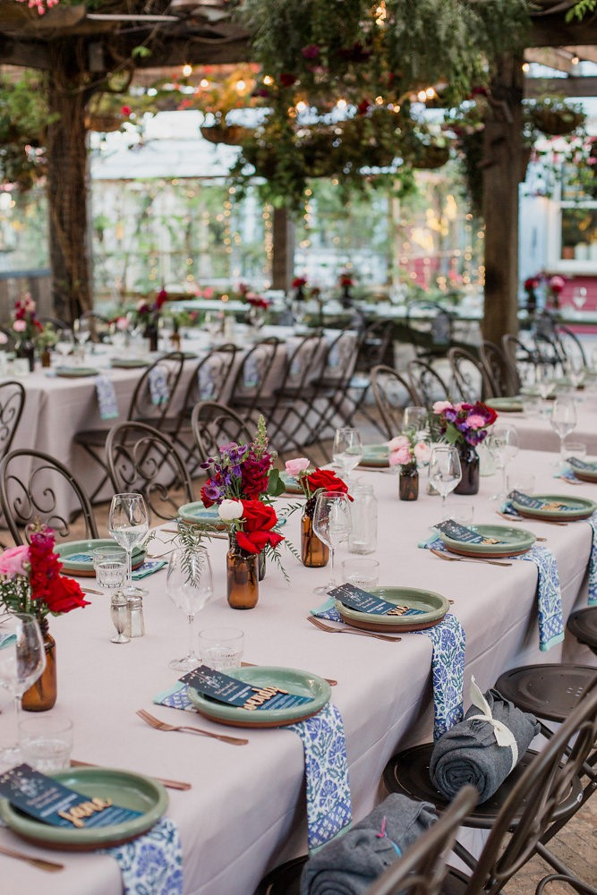Garden Wedding Reception Decor